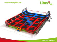 Customized Indoor Trampoline Court With Basletball Hoops