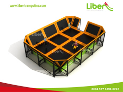 Liben Mini Trampoline With Foam Pit And Basketball Hoop