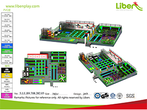 780 Sqm Customized design large indoor commercial trampoline park in Israel