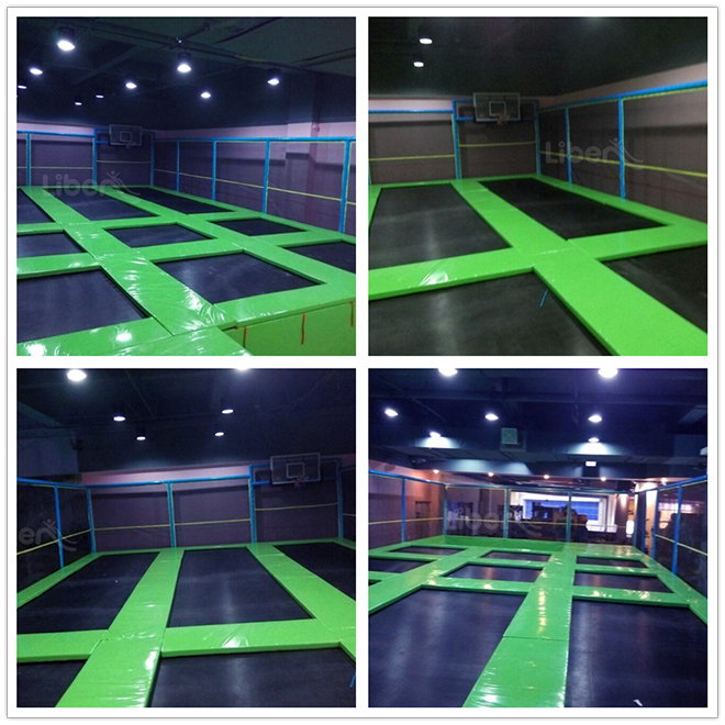 Adult Trampoline Park Green Padding Real Photos