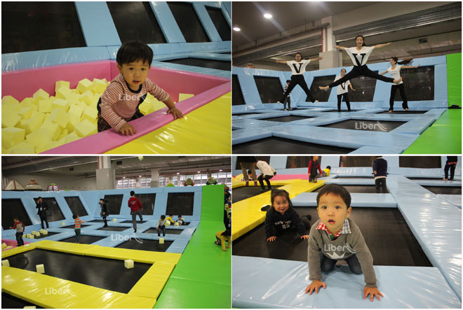 kids indoor trampoline real pictures