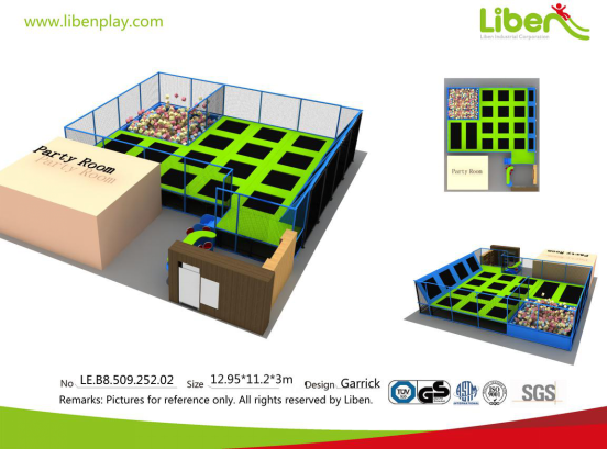 indoor trampoline park for shopping mall design drawing
