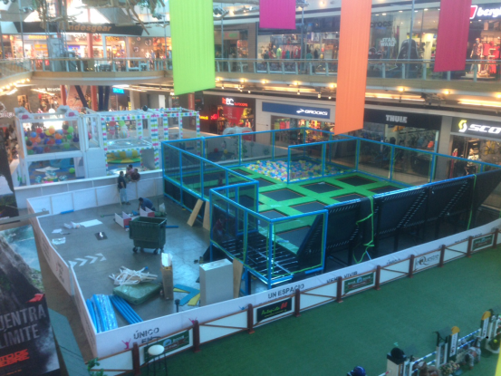 Trampoline in shopping mall picture