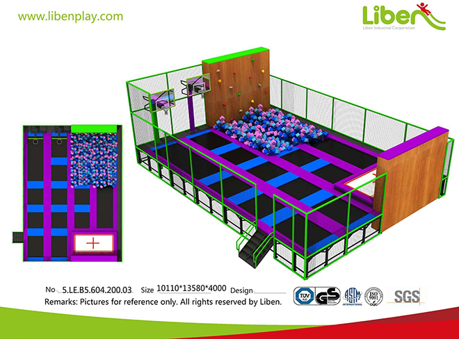 Kids Trampoline Court in Shopping Mall design